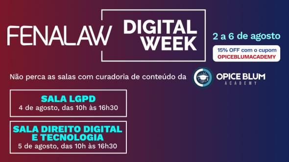 Fenalaw Digital Week - 2 a 6 de agosto
